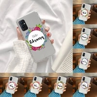 flowers leaves month text art phone case transparent for oneplus meizu meitu m 7 8 9 16 17 t pro xs moible bag