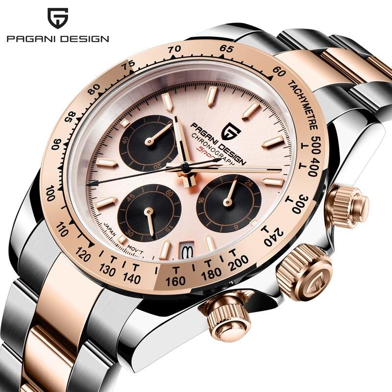 2020 New PAGANI DESIGN Brand Luxury Watches For Men Quartz Wristwatch Men Chronograph Automatic Watch Date Men Relogio Masculino