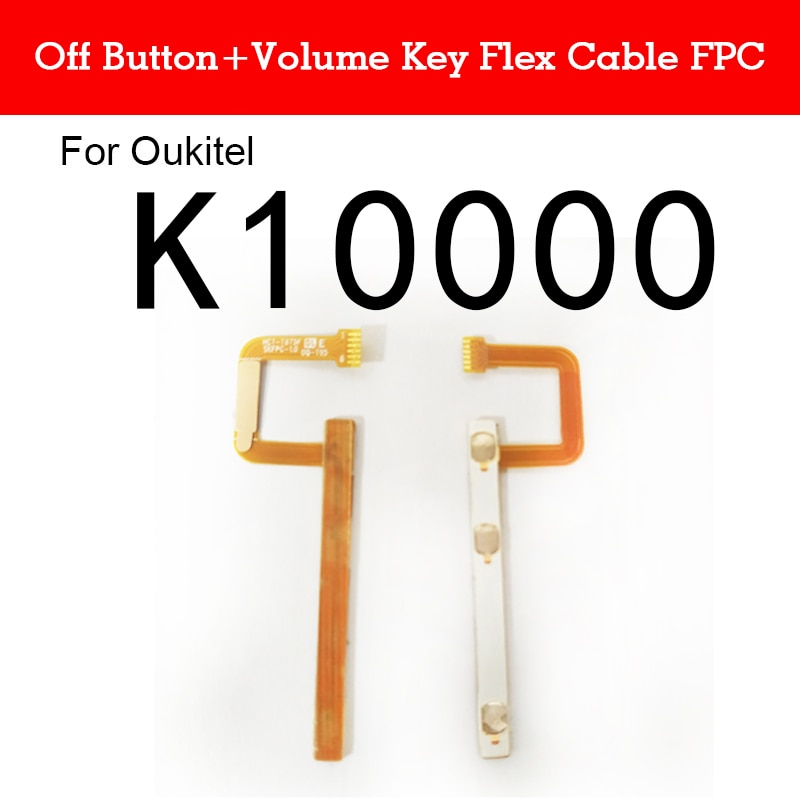 chenghaoran 50 100 pcs for iphone 4 4s new power volume switch key button replacement Power on/off+Volume Side Button Flex Cable Key FPC for Oukitel K10000 Volume Switch Sidekey Wire Flex Ribbon Replacement Parts