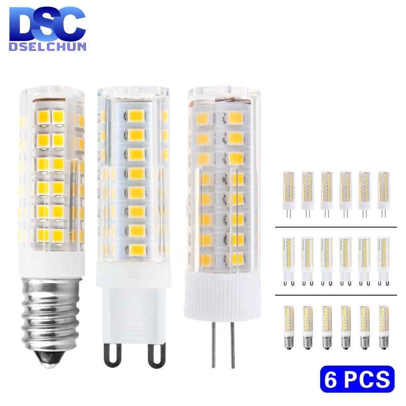 Светодиодная цилиндрическая ЛАМПОЧКА G4 G9 E14, сменные Галогенные лампочки для люстры, 6 шт./лот, 3 Вт, 4 Вт, 5 Вт, 7 Вт, 220 В, SMD2835, 30 Вт, 40 Вт, 60 Вт