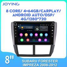 JOYING CC2 pour Subaru Forester 2008-2012 Impreza WRX 2007-2011 DSP autoradio lecteur vidéo Navi GPS Android 8.1 un din stéréo