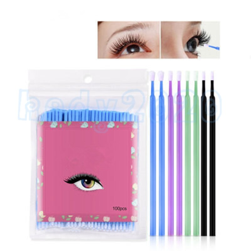 5000pcs Disposable Colorful Cotton Swabs Eyelash Brushes Cleaning Swab Hot Natural Eyelashes Remover Tattoo Microbrush Kit