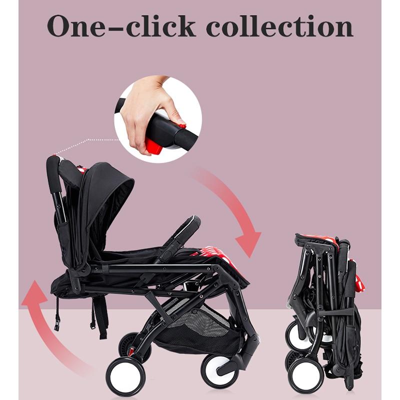 Mickey Stroller Lightweight High Landscape Quick Folding Magnesium Frame Large Seat Colorful Baby Newborn Stroller enlarge
