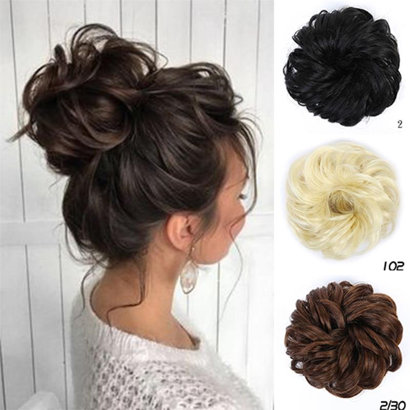 bun bun button XUANGUANG Fashion bun Curly hair bun Straight hair bun Clip Bun Donut bun Wig Synthetic Hair Heat Resistant Hairpieces For Women