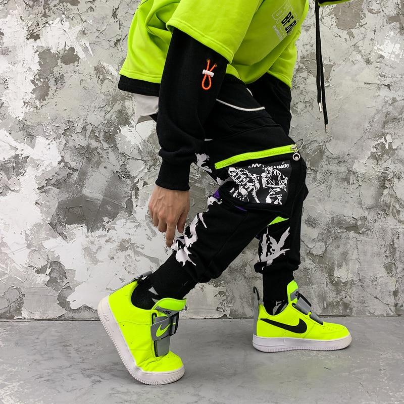 Pantalones de chándal de algodón negro para hombre