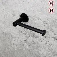 Adhesif pour ongles porte-papier hygienique  acier inoxydable 304  noir  salle de bain porte-rouleau de papier  suspension de mouchoirs