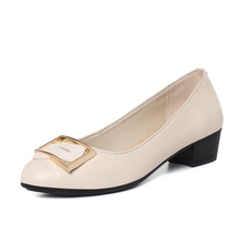 AIYUQI women's Shoes 2021 Spring New Women's Really Leather Middle-aged Mother Shoes Large Size Mid-