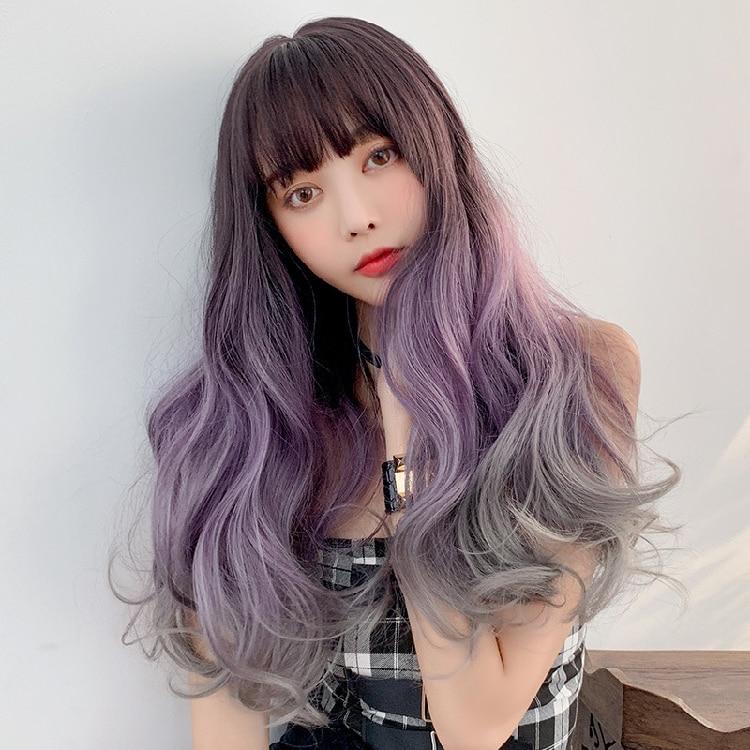 (DM-WIG19) résine japon Anime Kigurumi Cosplay masque Lolita Crossdressing BJD Masks Cosplay perruque couleur mixte