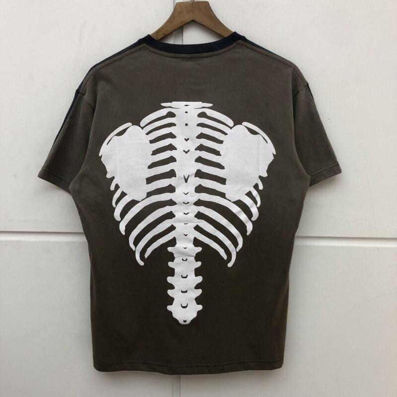 New KAPITAL BONE BIG T Shirt Tees Men High-Quality Streetwear KAPITAL Tie-dye T-shirt Tshirt hip hop boyfriend gift