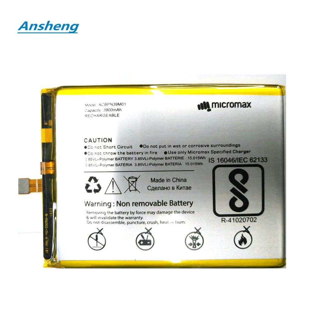 Ansheng Hohe Qualität 3900mAh ACBPN39M01 batterie Für Micromax Leinwand Saft 4 Q465 Li-Ion Polymer Smart telefon