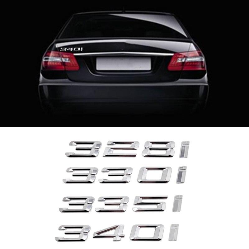 Para Bmw Serie 3 328i 330i 335i 340i F30 F31 F34 E21 E30 E36 E46 E90 E91 E92 E93 trasera de coche arranque logotipos insignia emblema de la etiqueta engomada