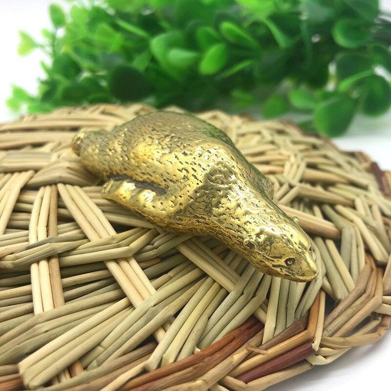 Estatua de oso Polar de cobre puro, adorno de escritorio, decoración del hogar, artesanía de Metal de latón, figuras en miniatura de animales bonitos, regalos para niños