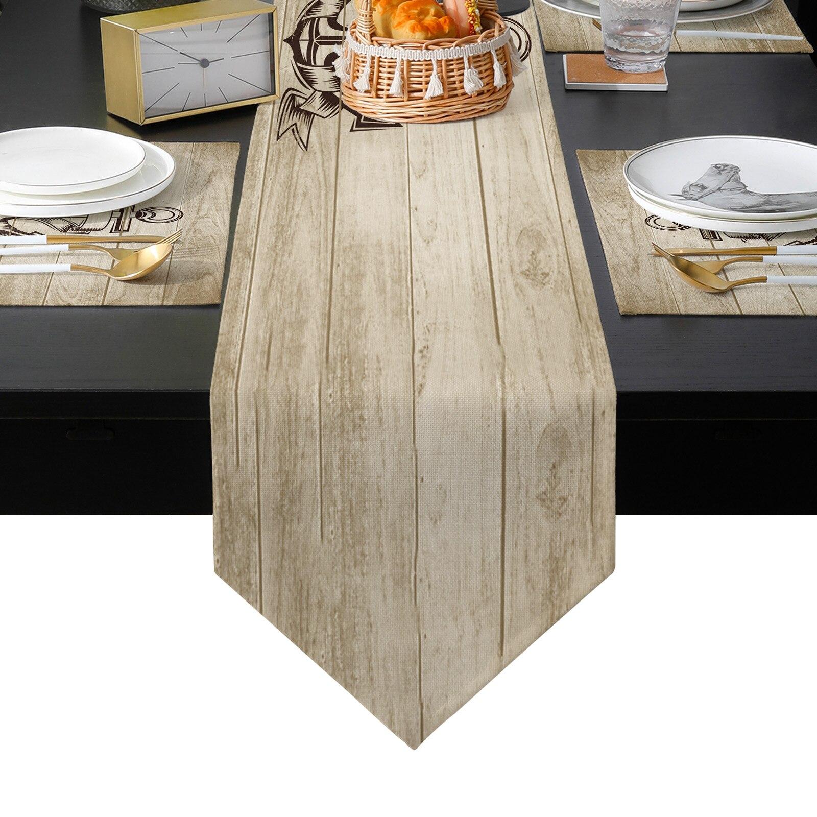 الإبحار موضوع مرساة الخشب الحبوب الزفاف الجدول عداء مجموعة الجدول الحصير الشاي غطاء خزانة الغبار Tablecloth ديكور المنزل