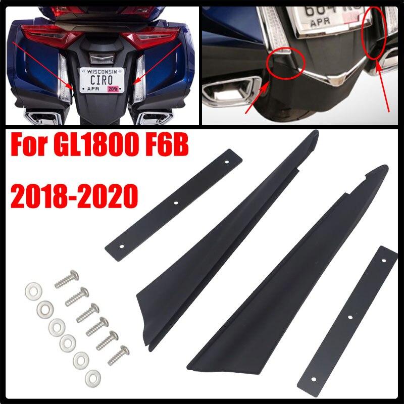 لهوندا Goldwing GL1800 GL 1800 F6B 2018 2019 2020 دراجة نارية أسود خلفي الحاجز حشو شرائط الحاجز الخلفي يربك