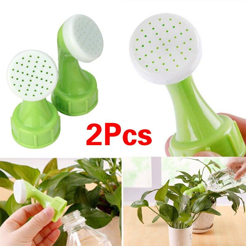 2 pçs casa jardim spray de água sprinkler portátil planta jardim ferramenta bocal rega prático garrafa pode sprinkler cabeça