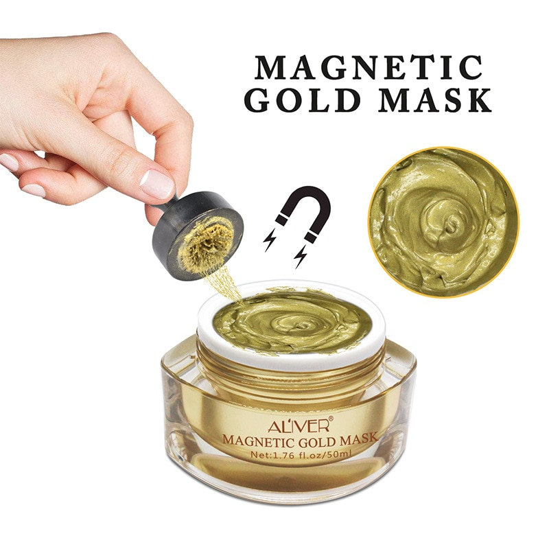 dead sea mud mask deep cleaning black mask hydrating acne blemish clearing lightening moisturizer nourishing pore face cleaner Magnetically Absorbent Gold Mask Rehydrated Dead Sea Mud Cleaning Pore Magnet Detox Black Mud Mask 292g