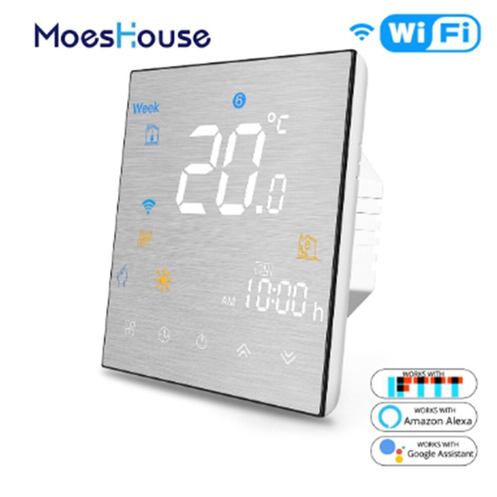 MoesHouse BHT-3000 واي فاي الذكية ترموستات تحكم في درجة الحرارة للمياه/التدفئة الكهربائية الطابق يعمل مع أليكسا جوجل المنزل