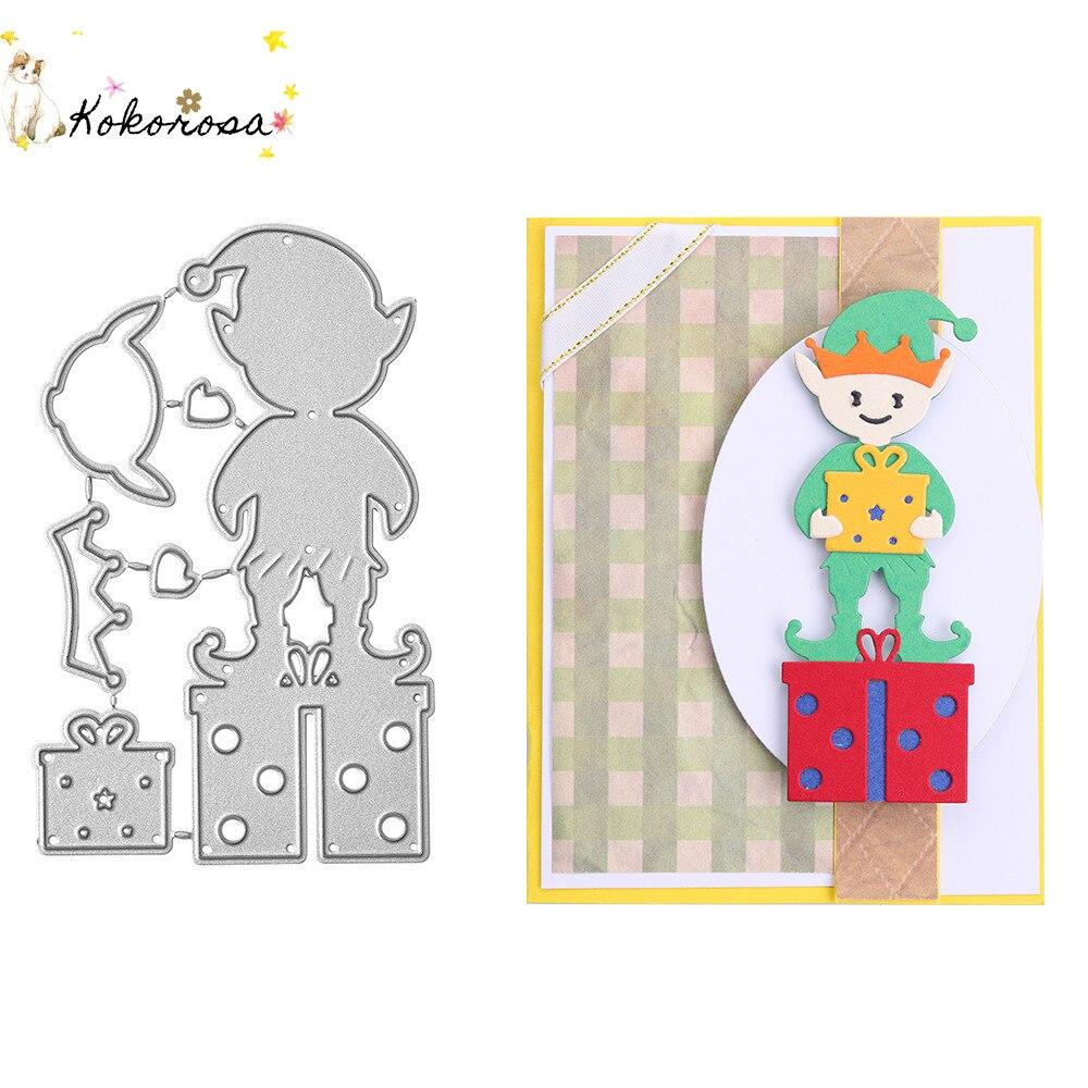 Kokorosa Lucky Elves artesanía de corte de Metal troqueles Navidad Elf manualidades de papel de álbum de recortes cuchillo molde de cuchilla perforadora de plantillas troqueles 2020 nuevo