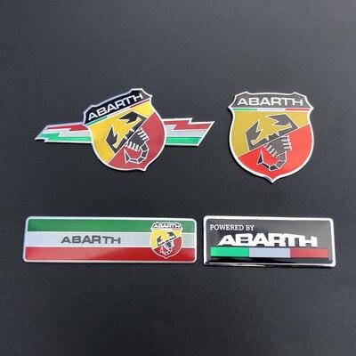 Pegatina 3D para coche, placa de Metal con emblema, para Fiat 125...