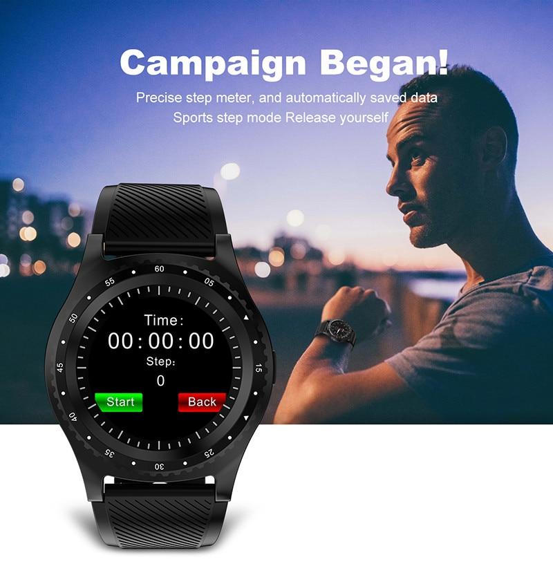 El reloj inteligente L9 más nuevo con cámara Bluetooth reloj deportivo Monitor de Fitness compatible con tarjeta SIM Smartwatch para Huawei D5 Xiaomi