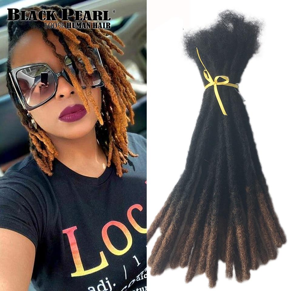 Black Pearl Tight Afro Kinky Bulk Human Hair 100% Human Hair For Dreadlocks Twist Braids Human Hair Extensions 20/60 strand/lot