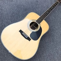 high quality solid spruce d style acoustic guitar with chromed tuners rosewood back