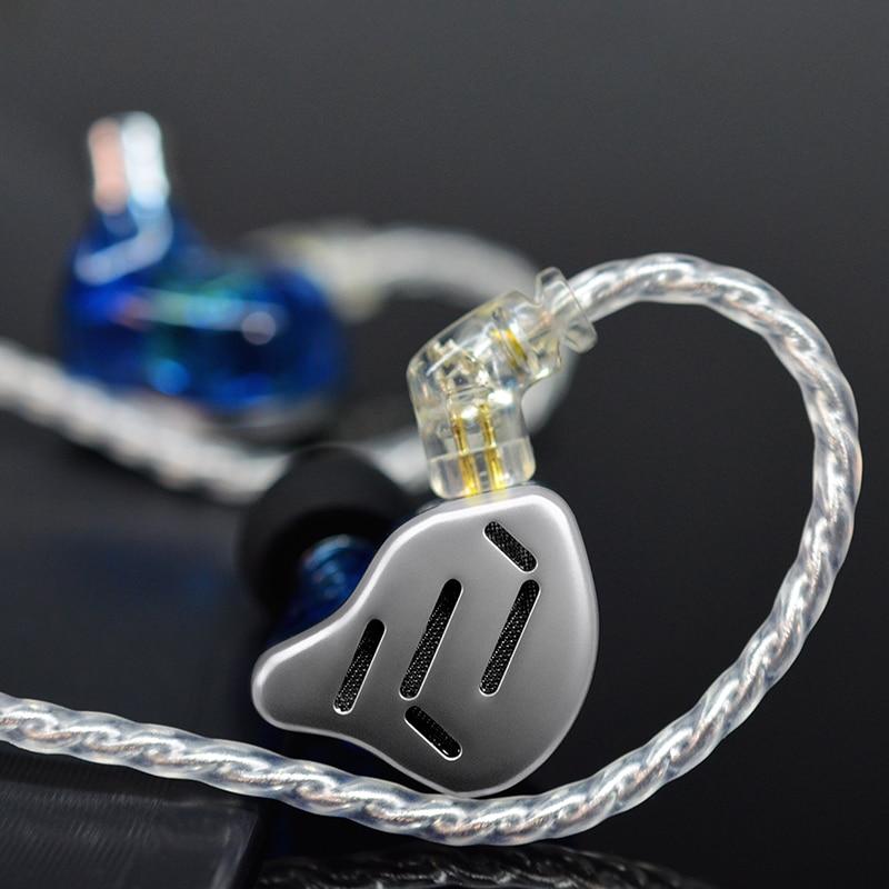 KZ ZAX 7BA+1DD In Ear HIFI Bass Earphones Monitor Hybrid technology Earphones Noise Cancelling Earbuds headset with 0.75mm 2pin enlarge
