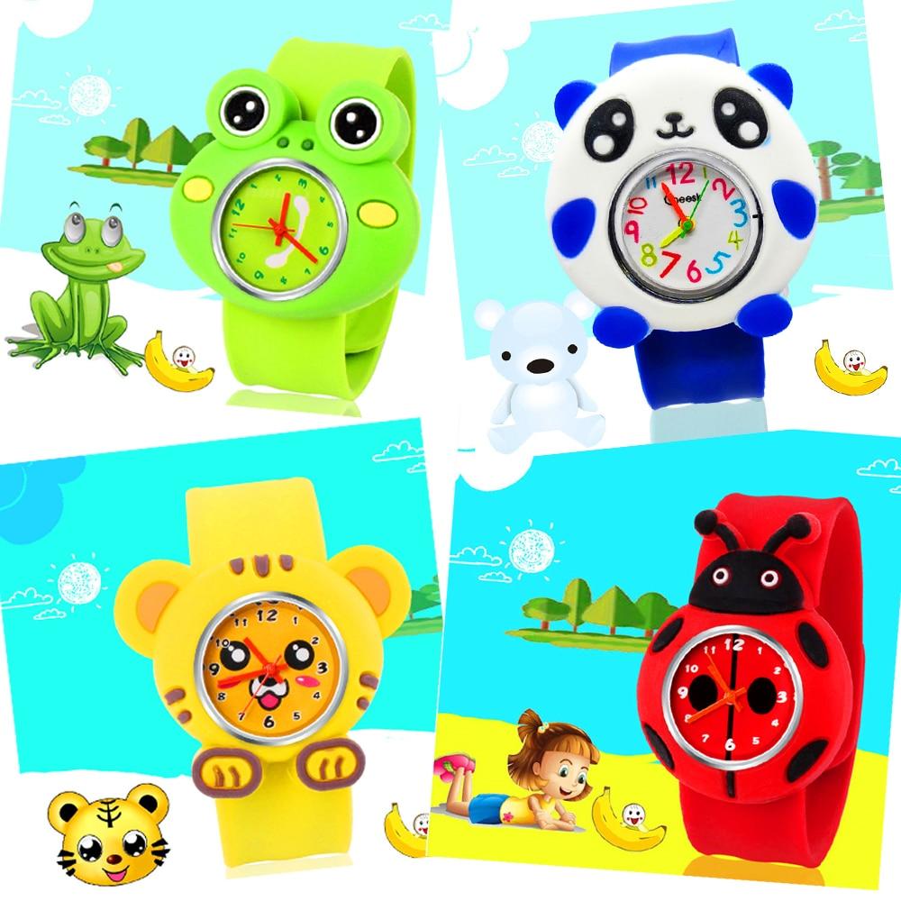 Frog / Tiger / Ladybug / Bee / Minnie / Pony Pattern Kids Watch Quartz Analog Children Watches for Boys Girls Student Clock Gift