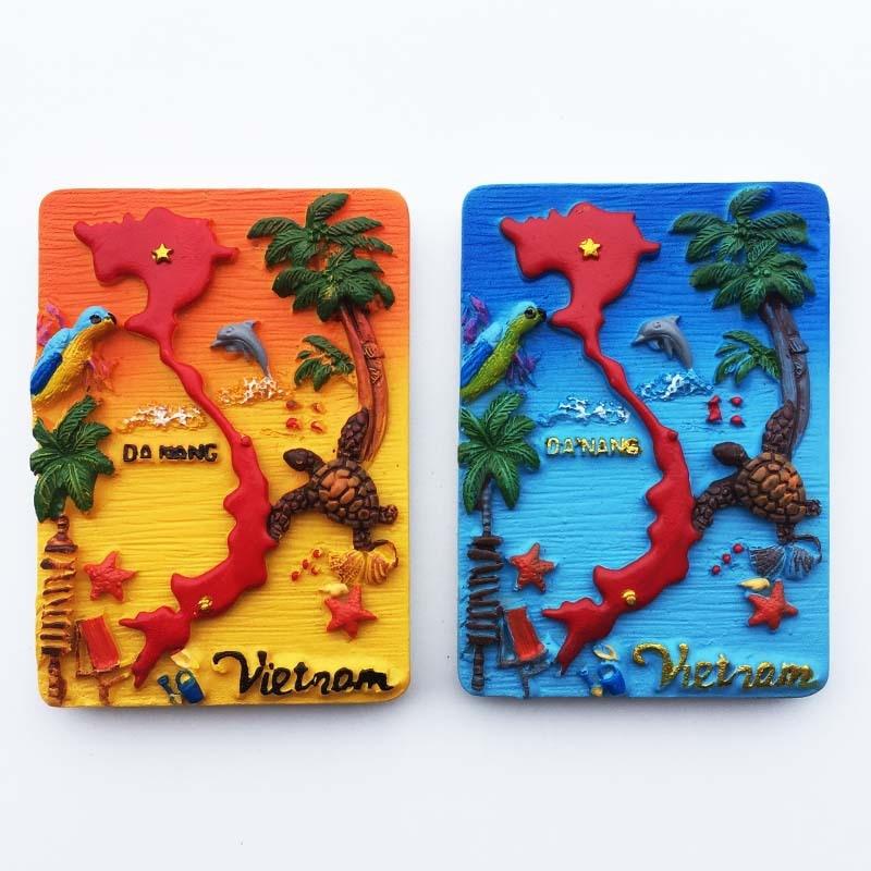 Pegatinas de nevera de viaje Vietnam Halong Bay Paradise Island souvenir decoraciones de refrigerador regalos de recuerdo