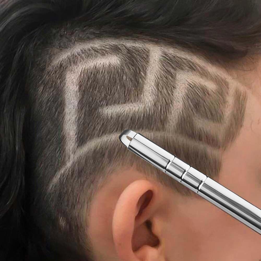 Профессиональная 1 шт. прическа ручка с гравировкой Волшебная гравировка борода ножницы для волос 10 шт. лезвия для укладки волос триммеры для бритья бровей