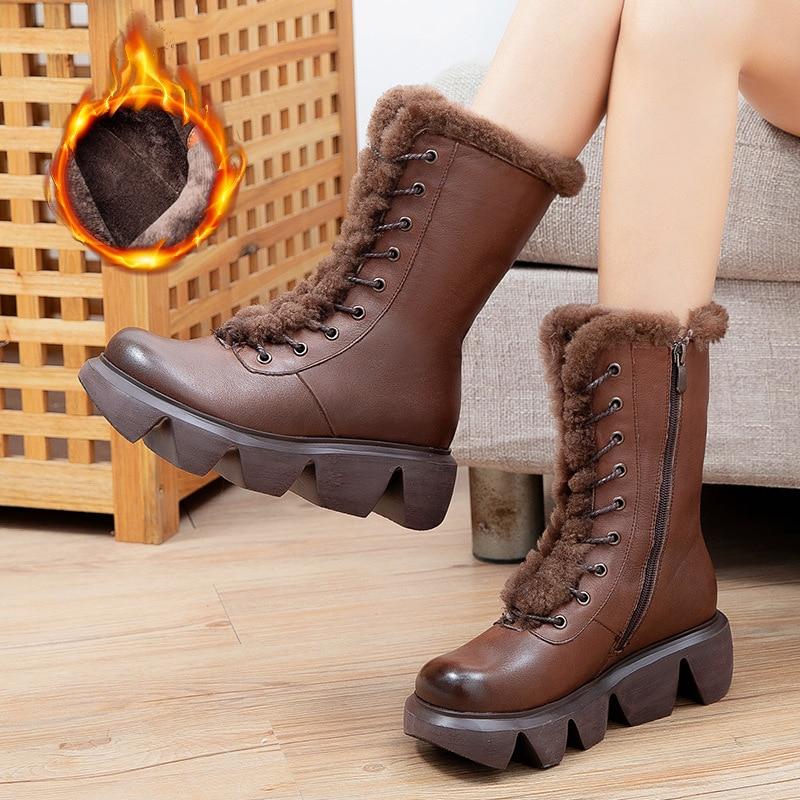 أحذية نسائية موضة تصميم أحذية نسائية مستديرة التصميم نمط مطاط للنساء أحذية الخريف حار أحذية غير رسمية