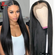 HairUGo Straight Lace Front Human Hair Wigs Pre-Plucked Remy Brazilian Straight Lace Frontal Wig Human Hair 4x4 Lace Closure Wig