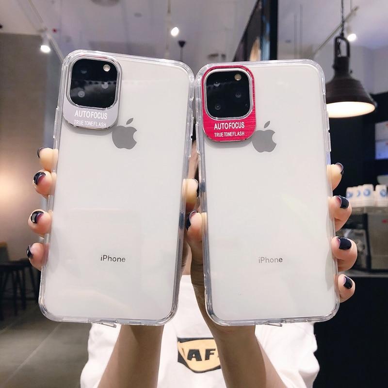 Capa de silicone macio para celular luxuosa, cor sólida, para iphone 11 pro max 6 7 8 plus x xr xs coque da tampa traseira do max se 2020