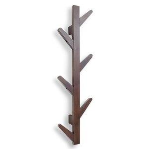 Нордическая креативная бамбуковая настенная вешалка для пальто, модная вешалка для дерева для спальни, гостиной