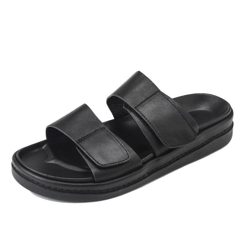 Verão ao ar Chinelos de Alta Livre Qualidade Hook Loop Macio Respirável Sapatos Plataforma Homem Lazer Plana Praia Sandálias Mais Tamanho &