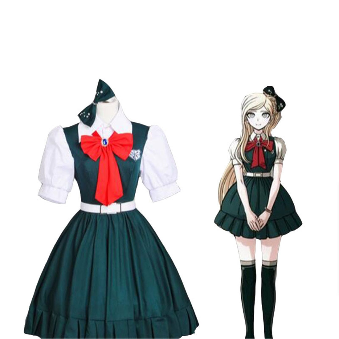 Anime Cosplay Danganronpa traje Sonia Cosplay vestido JK uniforme-XXXL