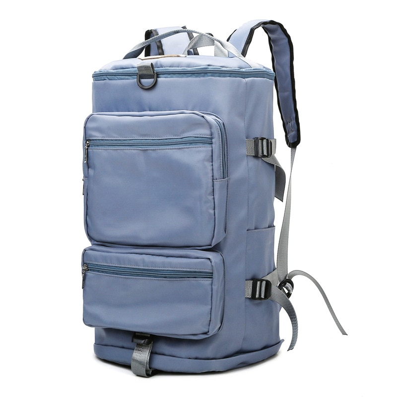 sport double layer water proof arm bag dark blue Travel Backpack Convertible Duffel Bag,Large Capacity Weekend Bag with Double Pocket Backpack,Water-Resistant Sport Duffel Bags