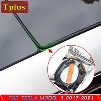 new model3 2021 door sound insulation seal kit noise accessories for tesla model 3 roof sunroof windshield seal trunk seal