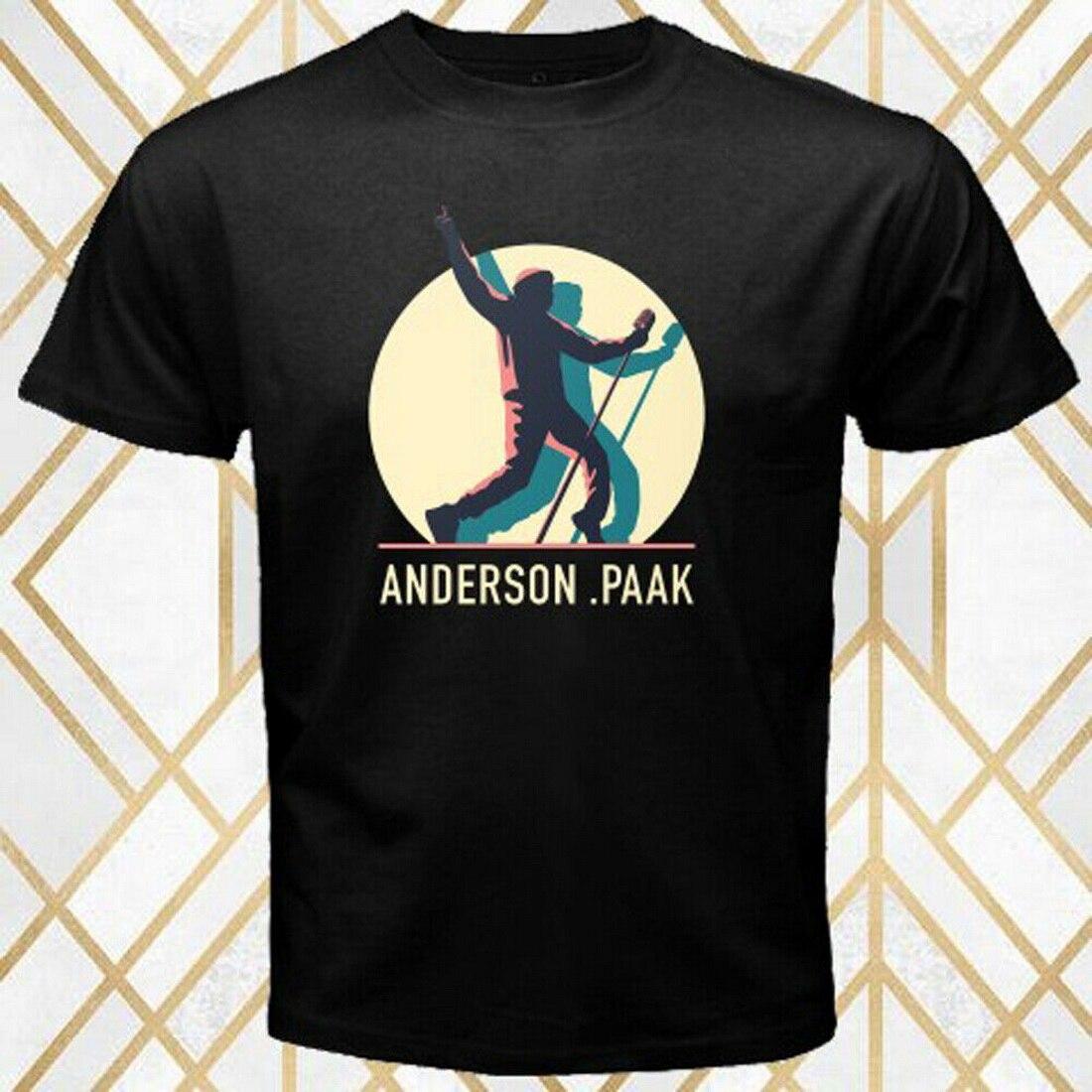 Anderson .Paak Andys Beach Tour Musician Logo Mens Black Tops Tee T Shirt Size S 3XL T-Shirt 20th 30th 40th 50th Birthday