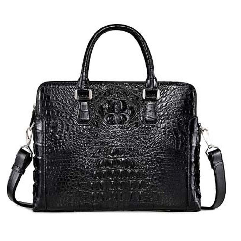 xingmengda handbag  male  crocodile bag new  business  leisure  large capacity men briefcase  Cross section  men handbag