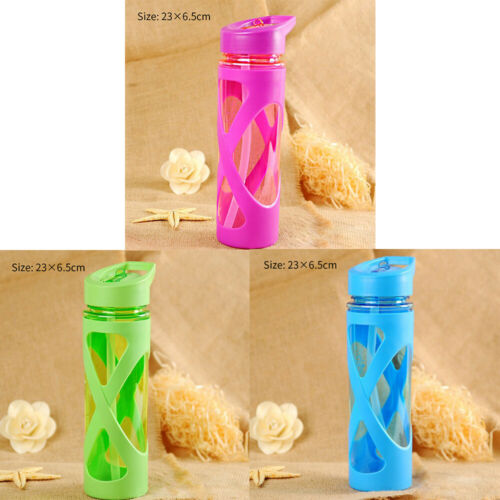 Portable Hiking Cycling Leak Proof Water Bottle Drinking Cup With Straw with lids and straw [3]