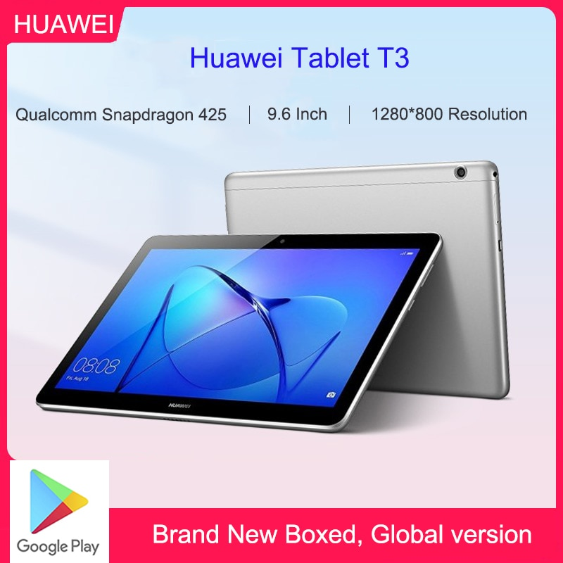 Sem caixa huawei mediapad t3 tablet AGS-W09/AGS-L09 pc snapdragon 425 octa-core 2gb ram 16gb rom 9.6 Polegada android 7.0 1280*800