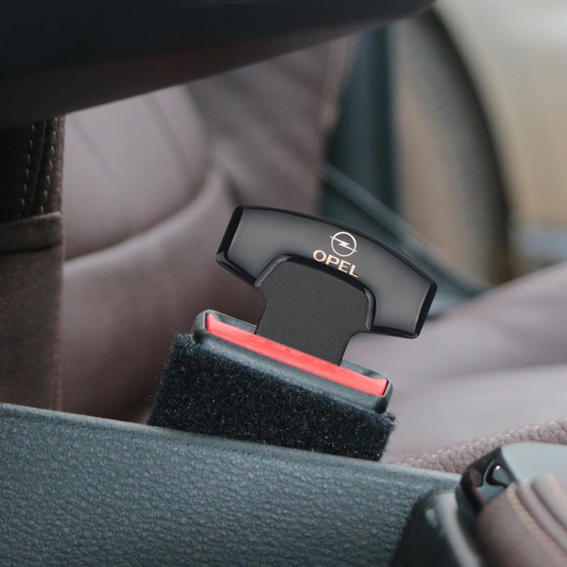 Nuevas hebillas para el cinturón de seguridad Real fibra de carbono cinturón de seguridad alarma cancelador tapón para Opel Astra H G J Insignia Mokka Zafira