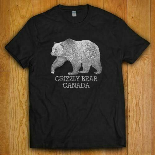alain caron canada michael abene usa NEW GRIZZLY BEAR CANADA T-SHIRT IN ALL COLOR USA SIZE