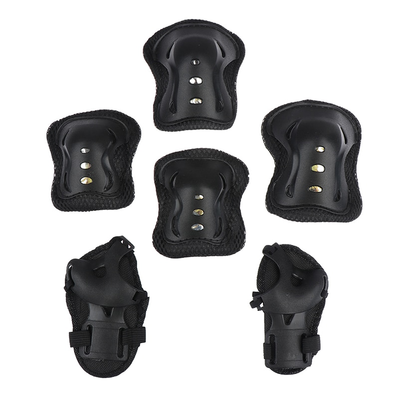 6PCS High Quality Kids Protective Gear Knee Pads Elbow Wrist Roller Skating Safety Protection Sports