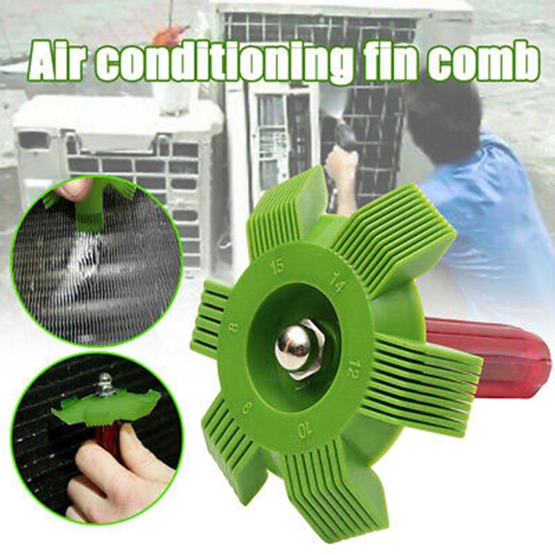 Condicionador de ar fin reparação pente refrigerador condensador ferramenta de refrigeração compacto pente bobina condicionador de ar alisador ferramenta de limpeza