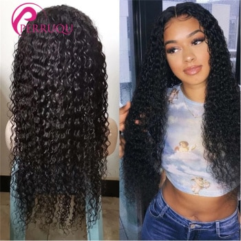Brazilian Kinky Curly Wig 13X6 HD Lace Front Human Hair Wigs For Women Perruqu 4X4 5X5 6X6 Remy 30 40Inch Curly Lace Closure Wig