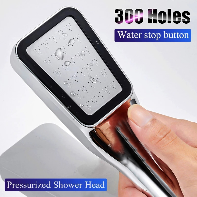 300 ثقوب الحمام ضغط الأمطار دش رئيس حمام توفير المياه عالية الضغط دش رئيس Spraye صنبور يده فوهة