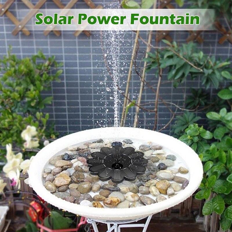 Bomba De Fuente De Agua Solar Micro flotante, decoración De suspensión para...