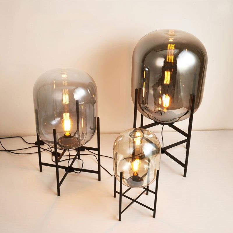 Minimalist Nordic Style Glass Floor Lamp Retro Floor Lights Design Glass Table Lamp Standing Lamp for Living Room Lampara De Pie